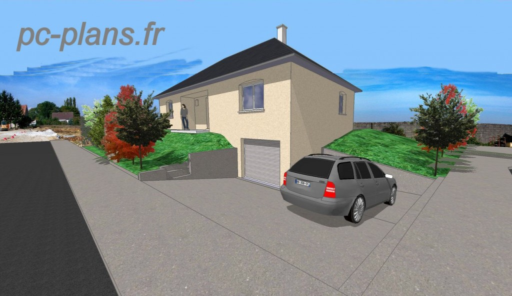 Pc plans catalogue nos plans de maison for Alarme garage sous sol